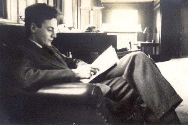 En la biblioteca de Princenton, 1939