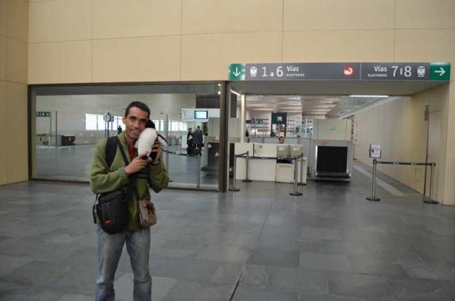 26 de Octubre de 2011: Empieza el viaje desde la estación de tren de Zaragoza.