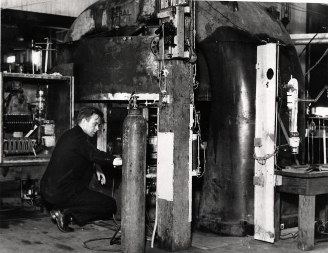 El ciclotrón de 94 cm que fue empleado para aplicaciones médicas
