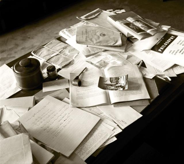 Escritorio de Albert Einstein en Princeton (1955)