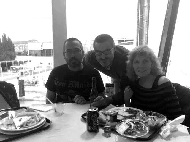 Con Abraham y Guille.