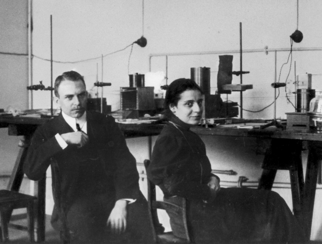 Otto Hahn y Lise Meitner