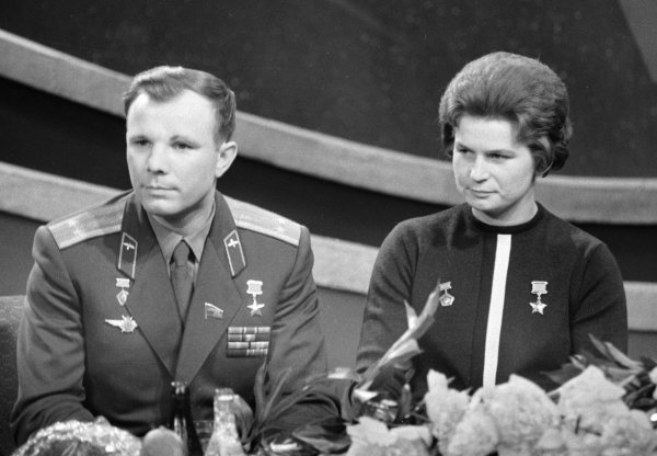 Valentina y Yuri Gagarin