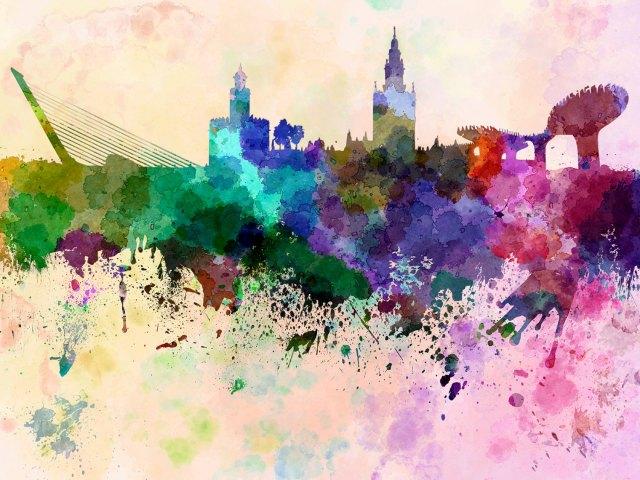 Paul Rommer «Seville skyline»
