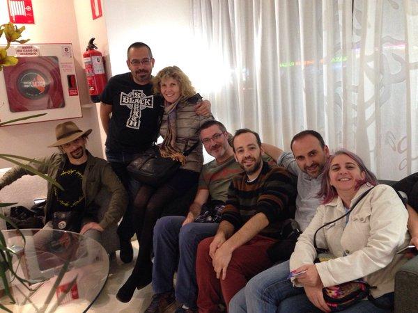 Rodeada de grandes amigos: Vary, Abraham, Guille, Moisés, Roger y Maria del Mar