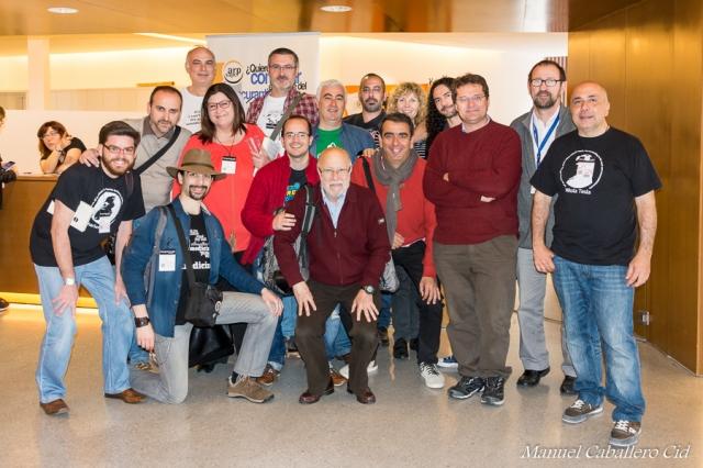 Fotografía de Manuel Cid Caballero Con mis compañeros de