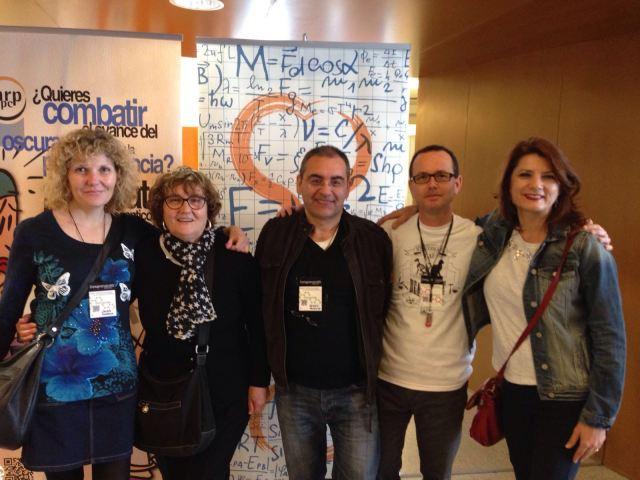 Acompañada de personas maravillosas que quiero un montón: Melli Toral, Sergio Palacios, Luis Fontana y Margarita Tortosa