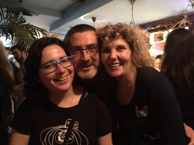 Con mis amores Dolores y Guille