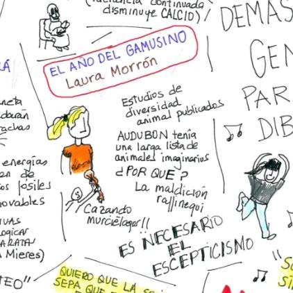Mi charla bajo la mirada y el arte de Mónica Lalanda Todas las imágenes: http://naukas.com/2016/09/20/las-ilustraciones-de-monica-lalanda-en-naukas16/
