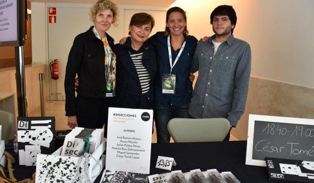 Parte del Next Door Team De derecha a izquierda: Jon Gurutz, Oihana Iturbide, María José Calasanz y yo.