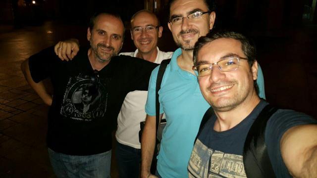 GREL: (De izquierda a derecha) Roger Sanchordi, Gonzalo Olmo, Luís Jurado y Juan Ángel Sans.