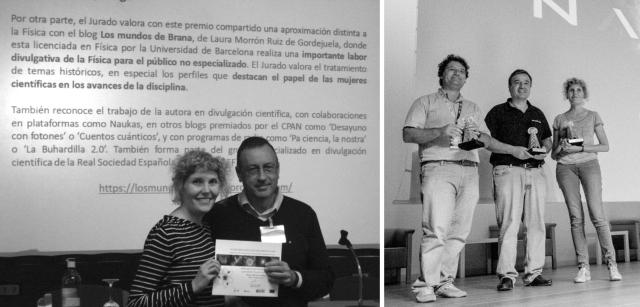 Recogiendo el Premio del CPAN y el Premio Tesla.