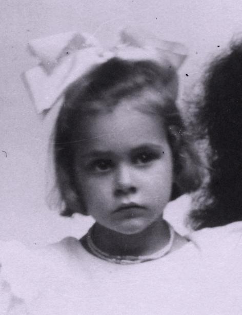 La pequeña Irène Curie